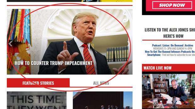 "Screenshot ""Infowars.com"""