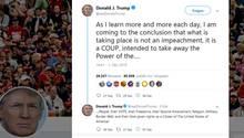 Auf dem Twitter-Profil von Donald Trump geht es hoch her