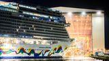 Biszum 30. September lag das Kreuzfahrtschiff, das für 3998 Passagiere konzipiert ist, noch im Werfthafen von Papenburg.