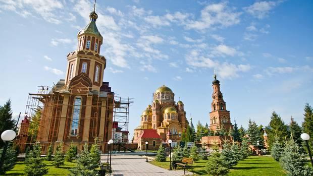 Das Dreifaltigkeitsklosters der Barmherzigkeit in Saraktasch, das von Nikolaj Stremsky aufgebaut wurde
