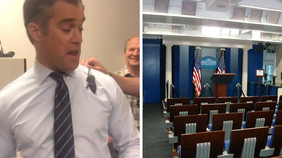 Eine Maus hält die Journalisten im Weißen Haus in Atem.