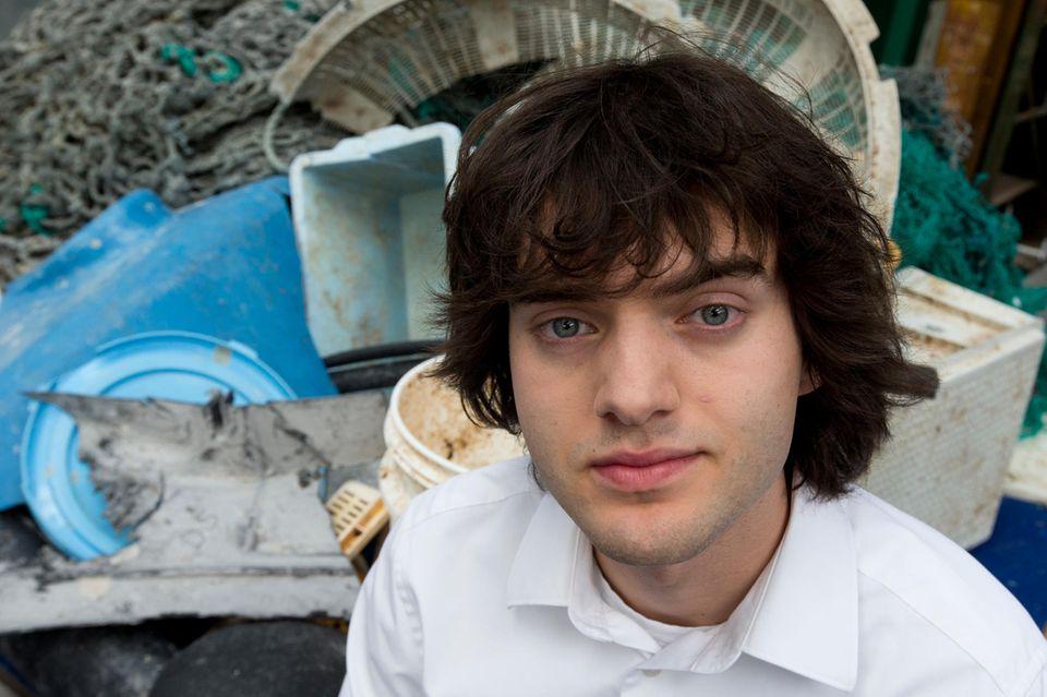 Boyan Slat will das Meer vom Müll befreien.