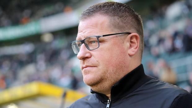 Gladbach-Manager Max Eberl mit ernstem Gesichtsausdruck