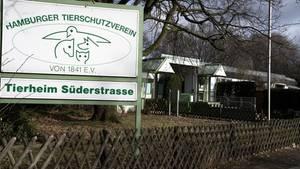 Schild des Hamburger Tierschutzvereins