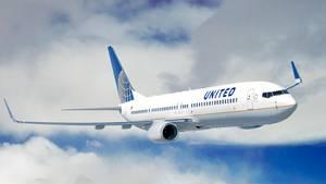 Eine Boieng 737 von United Airlines