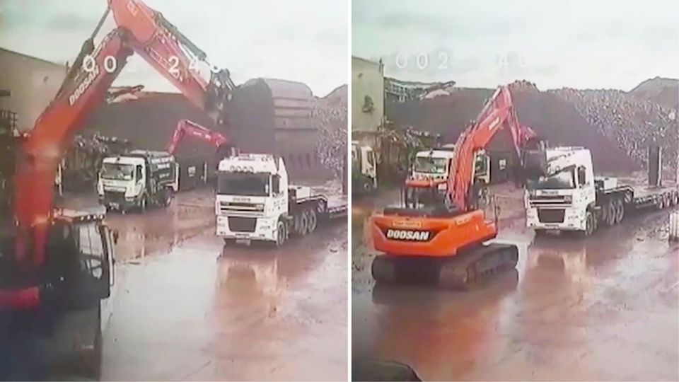 England: Baggerfahrer demoliert 100.000 Euro teuren SUV seines Chefs