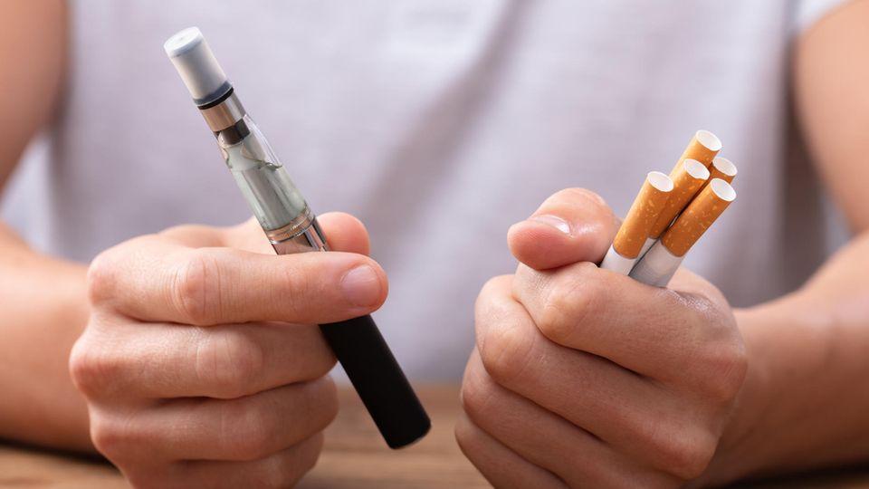 E-Zigarette und Zigaretten im Vergleich