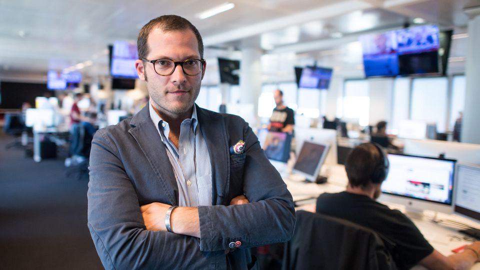 """""""Bild""""-Chefredakteur Julian Reichelt im Newsroom der Zeitung in Berlin"""