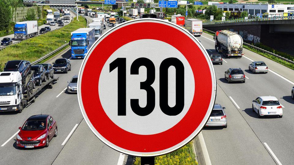 Das Tempolimit von 130 ist in einem Maßnahmenkatalog der Grünen für den Klimaschutz enthalten