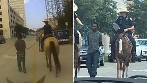 Die Polizei in Galveston, Texas, veröffentlicht Bodycam-Aufnahmen einer umstrittenen Festnahme mit Afroamerikaner am Strick