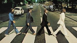 "Das Cover von ""Abbey Road"" der Beatles"