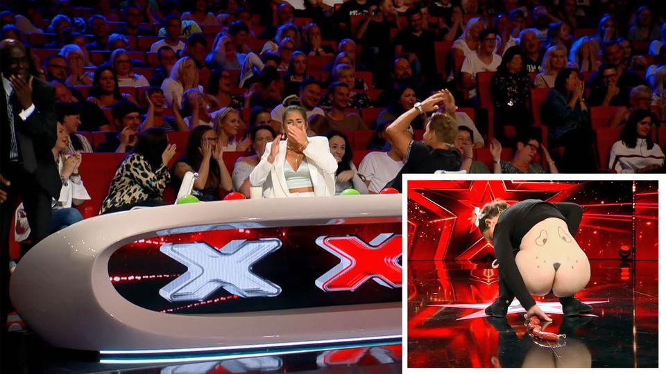 """Beim """"Supertalent"""" schockte Kandidatin Duckie L'Orange die Jury mit ihrer Hunde-Show"""