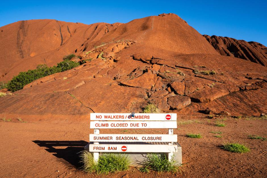 Im australischen Sommer war der Uluru bereits für eine Besteigung wegen der Hitze geschlossen