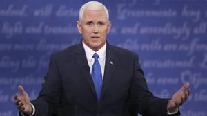 Mike Pence bei der TV.Debatte der Vizepräsidentschafts-Kandidaten