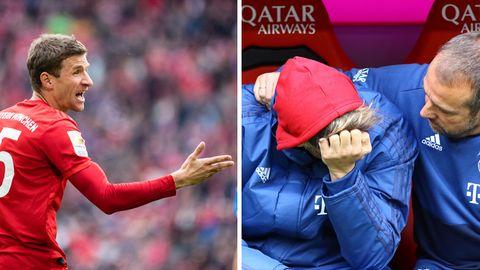 Thomas Müller wurde offiziell zum Bankspieler degradiert, Javi Martinez kommt mit seiner Rolle als solcher nicht gut klar
