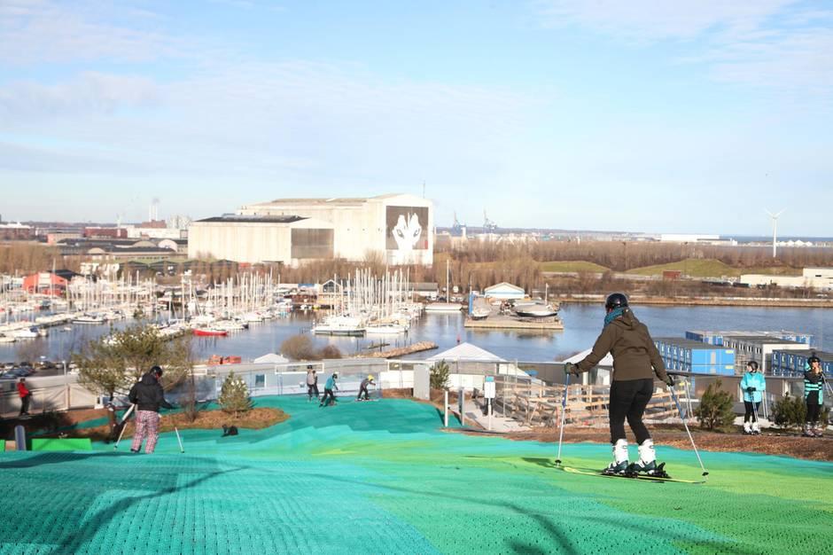 Copenhill - 450 Meter lang ist die Skipiste über den Dächern Kopenhagens