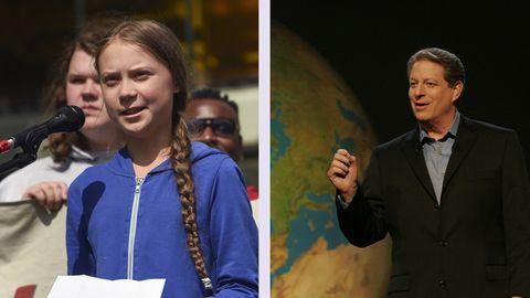 Greta Thunberg und Al Gore