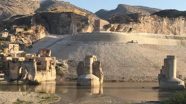 Hasankeyf am Tigris-Fluß