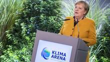 Bundeskanzlerin Angela Merkel bei Eröffnung der Klima-Arena