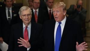 Mitch McConnell und Donald Trump