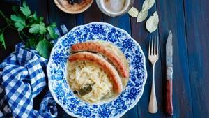Sauerkraut auf dem Teller