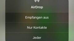 3. Schritt: Hier kannst du nun bestimmen, ob du dein AirDrop ganz deaktivierst, nur für Kontakte sichtbar bist oder doch jedemin deiner unmittelbaren Umgebung angezeigt wirst.