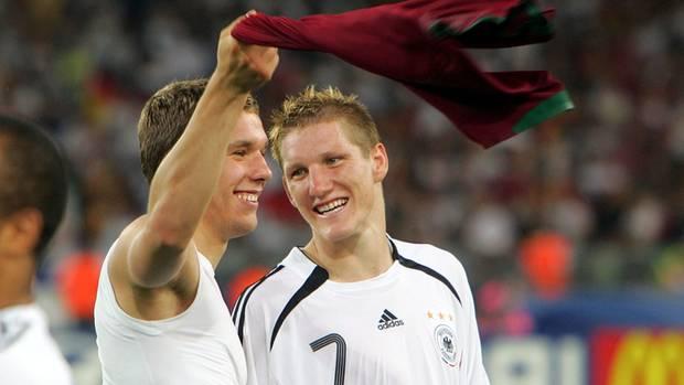 Bastian Schweinsteiger und Lukas Podolski bei der WM 2006