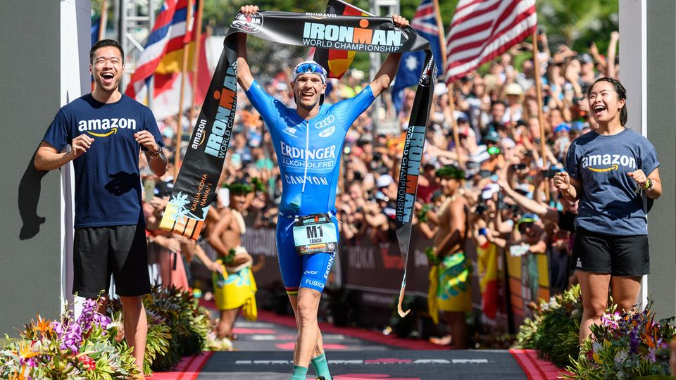 Ironman-WM Hawaii 2019 - Patrick Lange im Ziel des Ironman Hawaii 2018