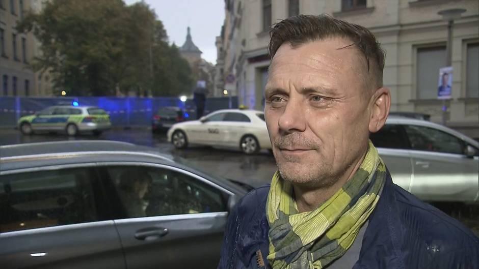 Antisemitisches Attentat in Halle: Der Anschlag findet neben seiner Bäckerei statt: So erlebt René Friedrich das Attentat
