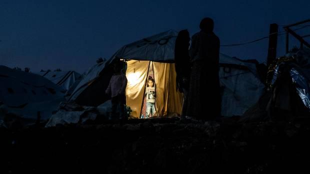 Das Flüchtlingslager Moria in Griechenland
