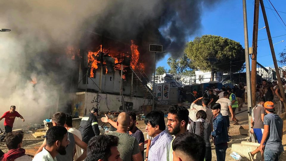 Die Brände im Flüchtlingslager Moria