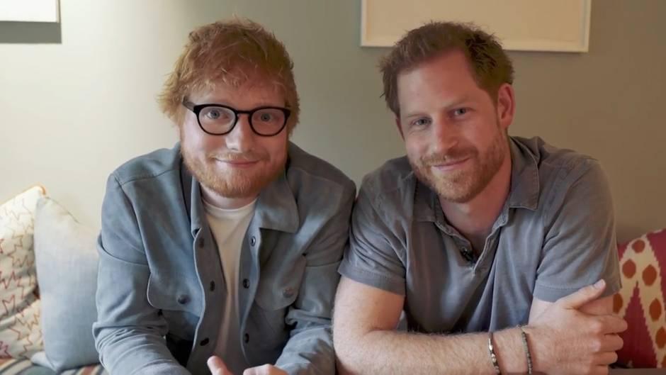 Prinz Harry und Ed Sheeran schließen sich für diese wichtige Botschaft zusammen