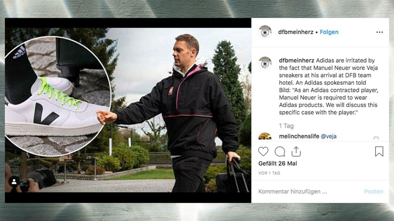 Manuel Neuer Hat Stress Mit Adidas Grund Sind Seine Sneaker Stern De