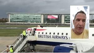 Extinction Rebellion: Demonstrant klettert auf Flugzeug – und bereut es sofort