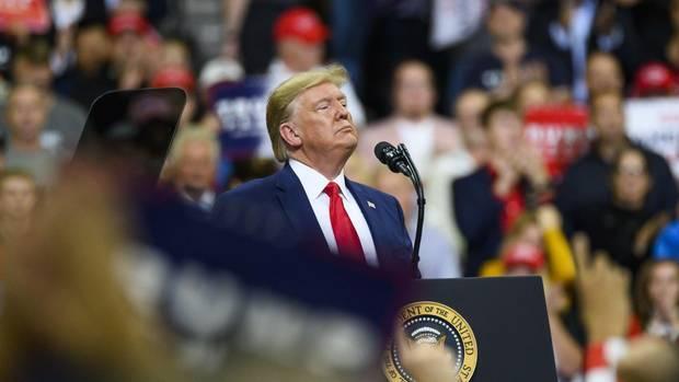 Donald Trump bei einer Wahlkampfveranstaltung in Minnesota
