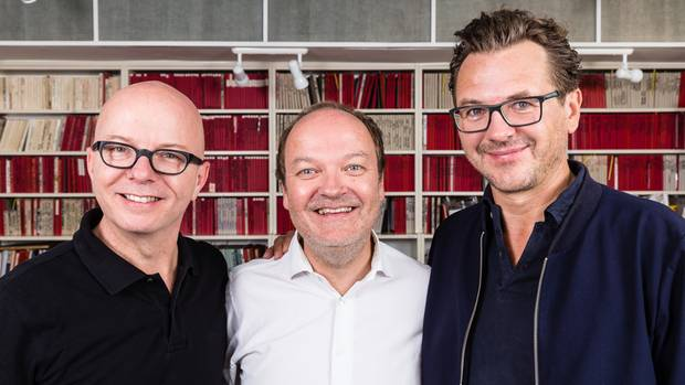 Oliver Rohrbeck, Jens Wawrczeck und Andreas Fröhlich