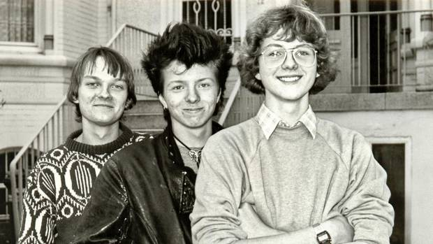 Und so sahen die drei aus, als es damals losging: Jens Wawrczeck (Peter),Oliver Rohrbeck(Justus) und Andreas Fröhlich (Bob)