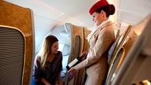 Bordpersonal bei Emirates