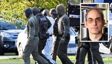 Der Attentäter von Halle wird von Polizisten aus einem Hubschrauber gebracht