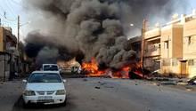 Laut Aktivisten und syrisch-kurdischenBeamten gab es eine Explosion vor einem beliebten Fast Food Restaurant in Nordsyrien