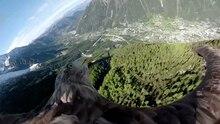 Adler filmt Mont Blanc aus der Vogelperspektive