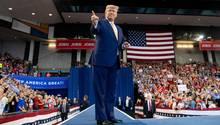 US-Präsident Donald Trump bei einer Wahlkampfveranstaltung