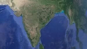 Satellitenbild von Indien
