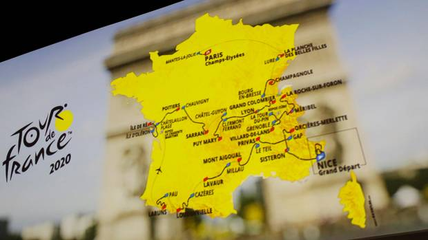 Sport kompakt: Der Streckenverlauf der Tour de France 2020