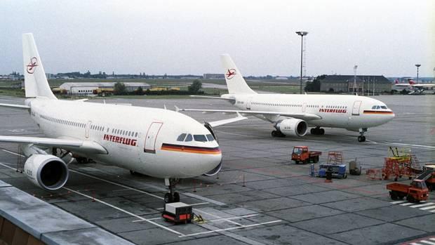 Westlichen Fluggerät für die Interflug: In den letzten beiden Jahren der DDR-Fluggesellschaft konnten einige Piloten auf den Airbus A310 umschulen.