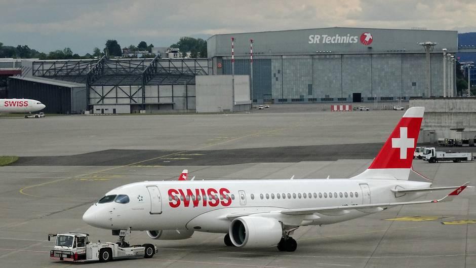 Airbus A220 der Swiss