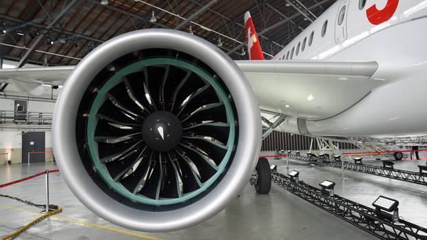 Auf dem Prüfstand: dieTriebwerke des Herstellers Pratt & Whitney vom PW1524G am Airbus A220 der Swiss.