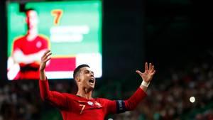 Cristiano Ronaldo ist der aktive Spieler mit den meisten erzielten Toren in seiner Karriere