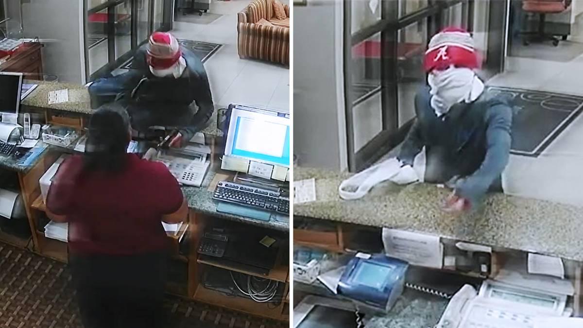 Missglückter Überfall: Peinlicher Fehler: Räuber will Hotel überfallen – dann blickt er in seine eigene Pistole