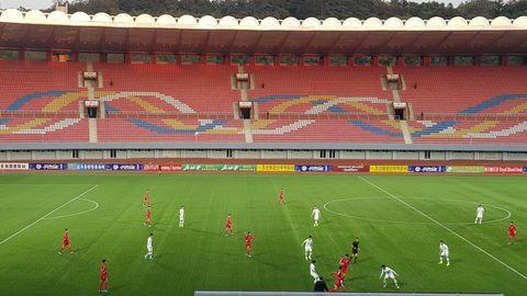 Zuschauerzahl: 0 – Szene aus dem ersten Länderspiel zwischen Nordkorea und Südkorea